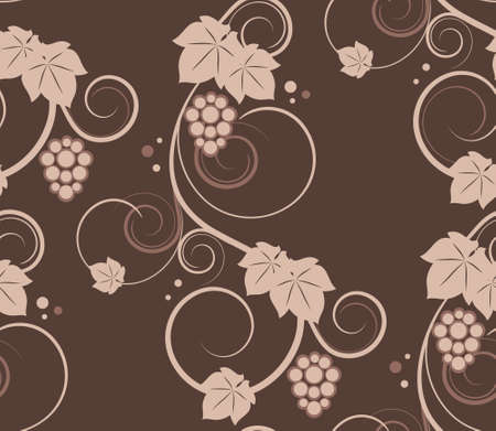 Grapevines seamless background. Vector illustration. Vector