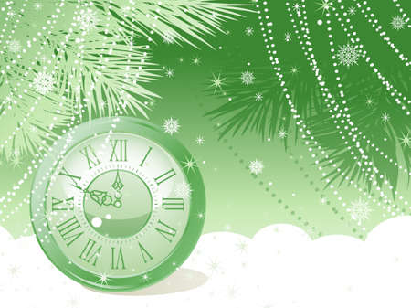 winter time: New Year celebration background. Vector illustration.  Illustration