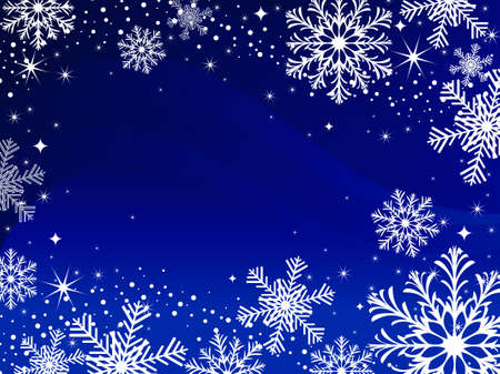 Snowflakes background. Vector illustration.