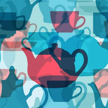 Seamless crockery background with transparency effect.   Files included:  - PNG file; - SVG file; - high resolution JPG file.  Does not contain any transparent elements.  service, blue, pink, seamless, background, patten, tile, tile-able, transparency, re