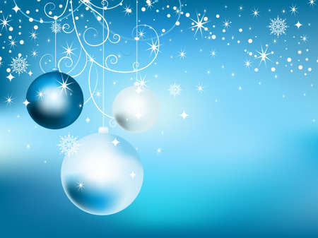 New Year background with balls. Vector illustration. Stock Vector - 9398675