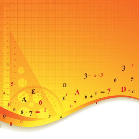 signos matematicos: Fondo de herramientas de educación abstracta. Ilustración vectorial. Vectores