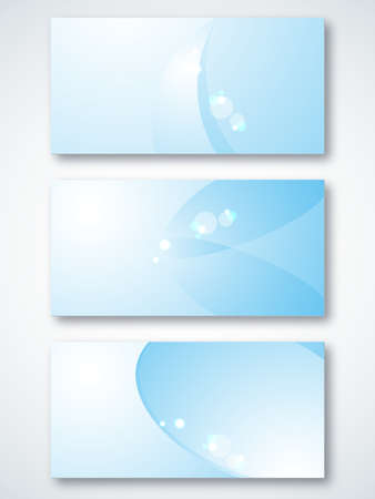 Set of light-blue visit cards for business  EPS 10 vector