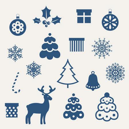 campanas de navidad: Conjunto de iconos de la Navidad