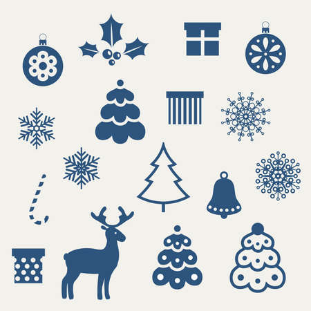 christmas bells: Set of Christmas icons