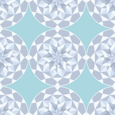 Diamond stone seamless gray background Vector