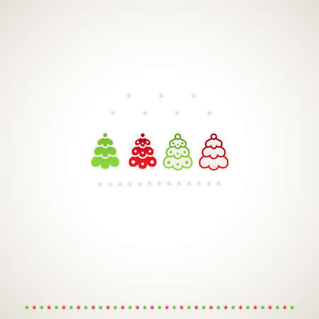 firtrees: Fir-trees winter events background