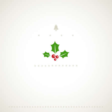 Decoration winter holiday background with mistletoe Vector