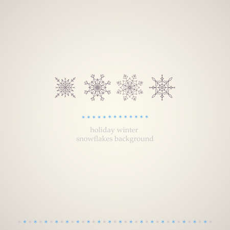 Decoration snowflakes winter background  Vector illustration   Vector