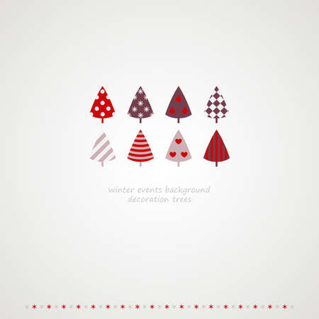 Fir-trees winter events background  Vector illustration   Vector