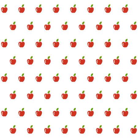 agriculture wallpaper: Sample seamless apple background. Vector illustration.