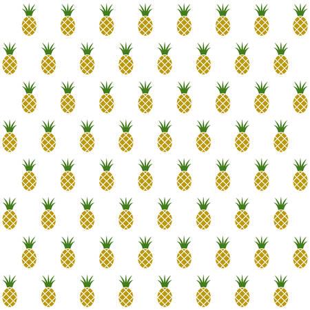 Sample seamless pineapple background. Vector illustration. Illustration