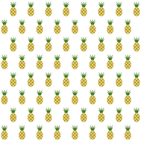 to gather: Sample seamless pineapple background. Vector illustration. Illustration