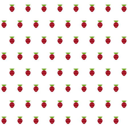 to gather: Sample seamless strawberry background. Vector illustration. Illustration