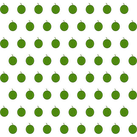 agriculture wallpaper: Sample seamless watermelon background. Vector illustration.