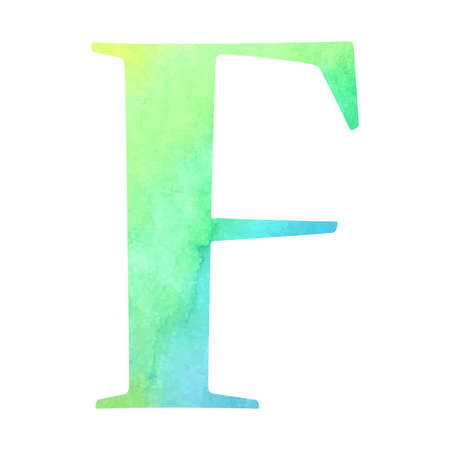 alphabet lettre: lettre de l'alphabet Aquarelle. Vector illustration. Illustration