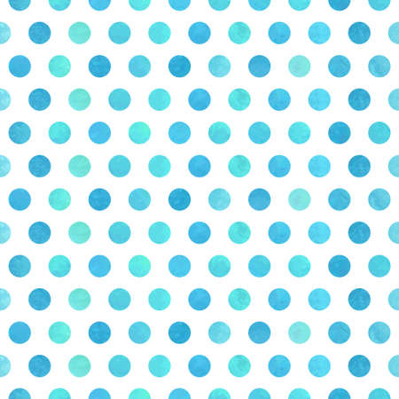 Watercolor polka dot seamless background. Vector illustration. Illustration