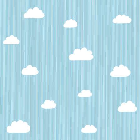 cloudscape: Cloudscape seamless decoration background. Vector illustration.