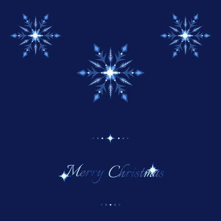 Blue shine holidays background with snowflakes and decoration elements. Vector illustration.