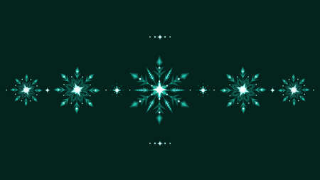 Full HD ethnic style winter grunge snowflakes background. Vector illustration.