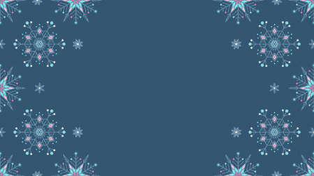 Frozen snowflakes grunge decoration seamless background. EPS 10 vector illustration. Ilustração