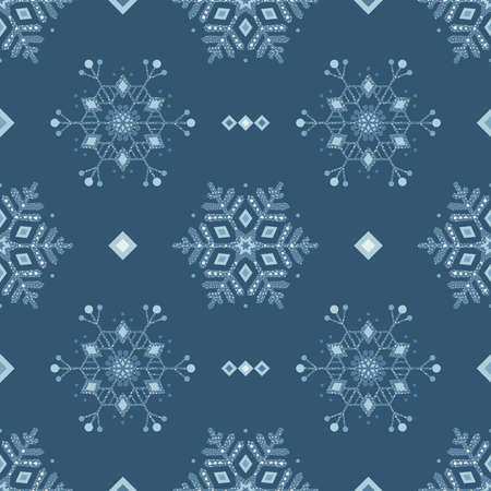 Frozen snowflakes grunge decoration seamless background. EPS 10 vector illustration. 向量圖像