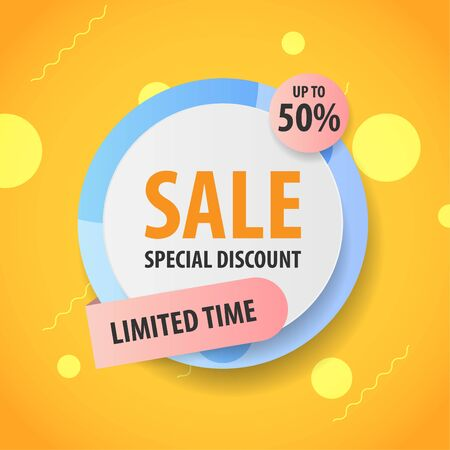Banner Sale , Promotion sale tag banner limited time and special offer , advertising element art , vector illustration