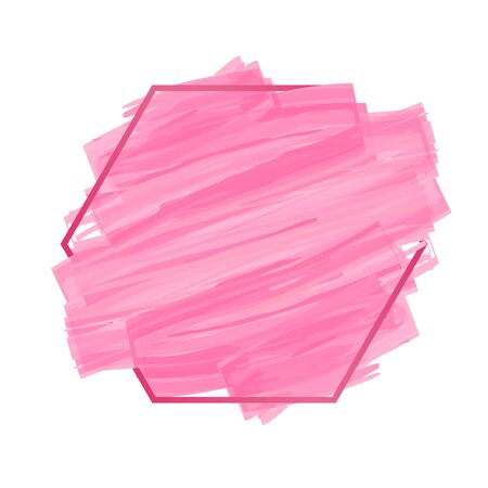 Abstract Background pink brush painted watercolor with border , Banner for text here Ilustrace