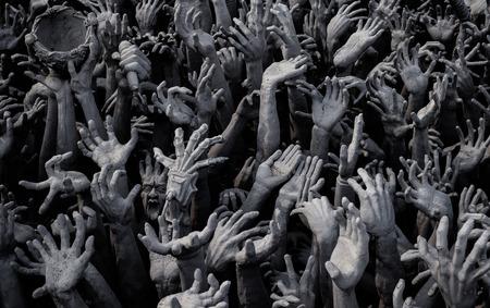 demonio: diablo estir� la mano para el cielo Foto de archivo