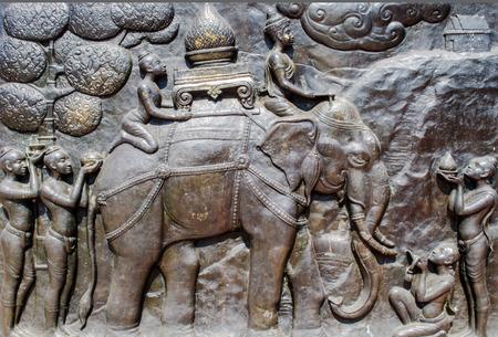 bas relief: bas relief of king ramkhamhaeng of Sukhothai kingdom