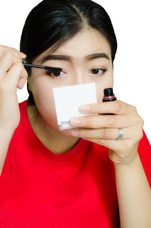 teeny: asian girl makeup Stock Photo