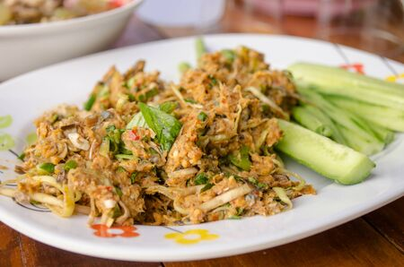 thai culture: spicy minced fish