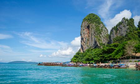 krabi: Railay island at Krabi, Thailand Stock Photo