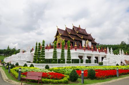 great temple in garden