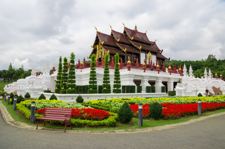 great temple in garden at Chaing Mai