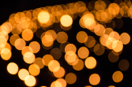 defocused of orange lamp light