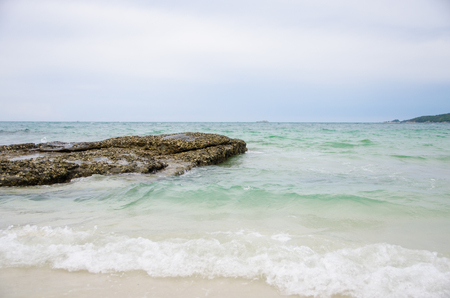 sea and stone in morning