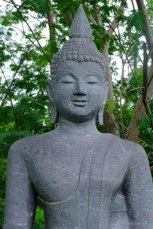 thai believe: Stone Buddha