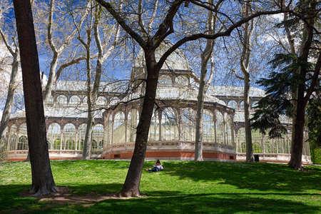 Madrid, Palacio de Cristal in the Parque de El Retiro