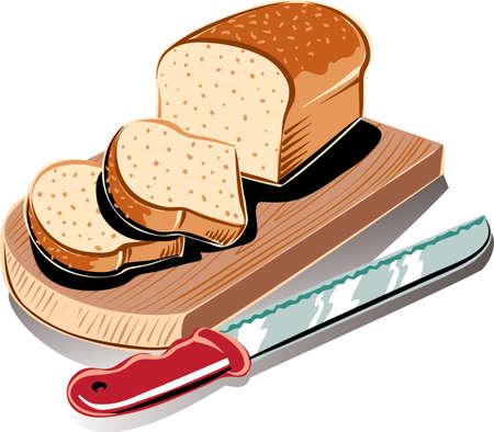 나무 커팅 보드에 신선한 상자에서 빵 덩어리.