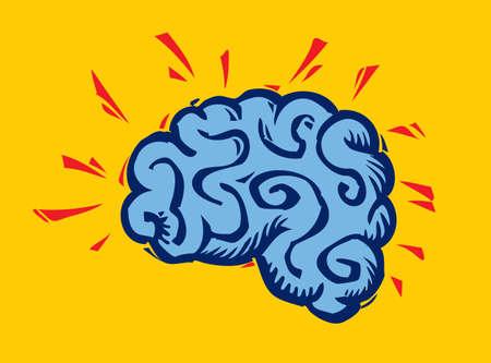 Thinking about human brain.