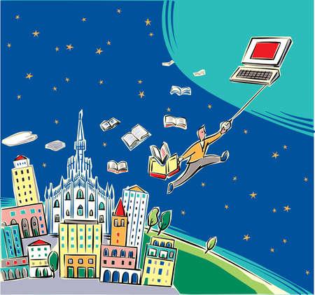 City of Milan towards the future.