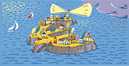 Island in the form of Euro