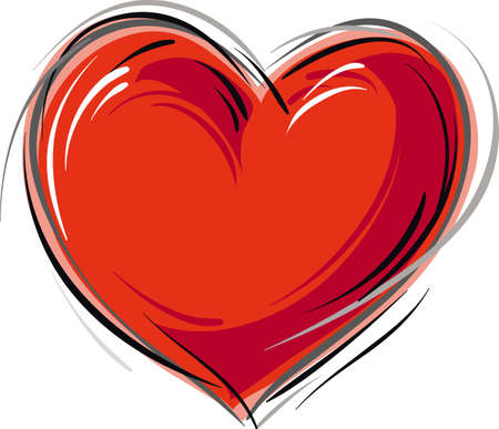 Heart on a white background Иллюстрация
