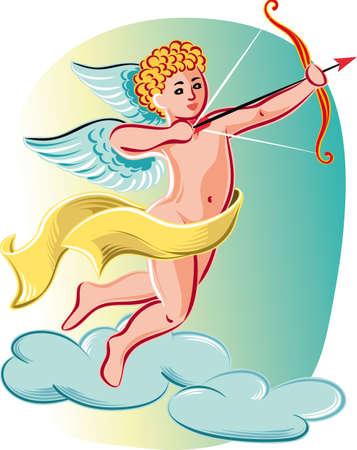 Cupid ready to shoot love arrows.