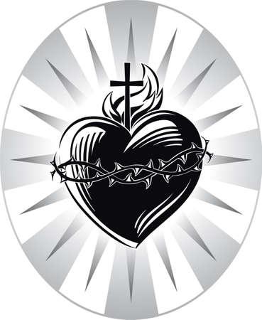 情熱のシンボルでイエスの御心の祝日。
