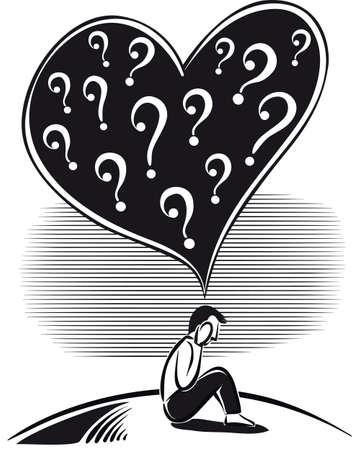 Man sitting, who wonders what love is.