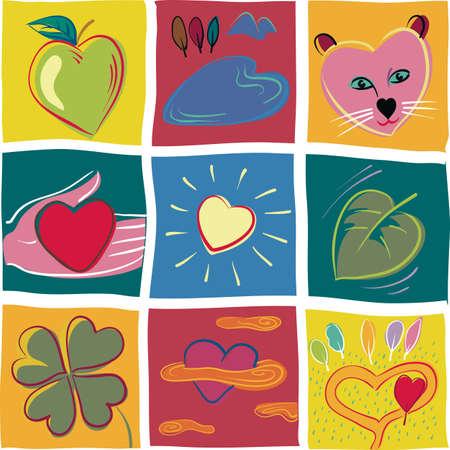 The heart symbol of love, Фото со стока - 83253554