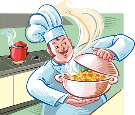 クック蒸しスパゲッティ トマト ソースのボウルを示しています。 写真素材 - 83429907