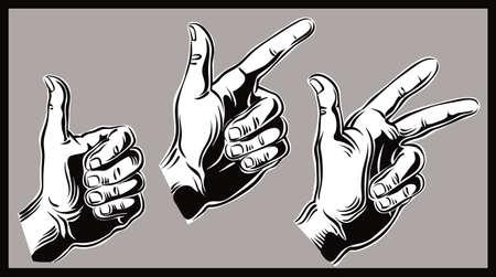 カウント 3 の手: 1 つ 2 つ 3 つ。 写真素材 - 83429926